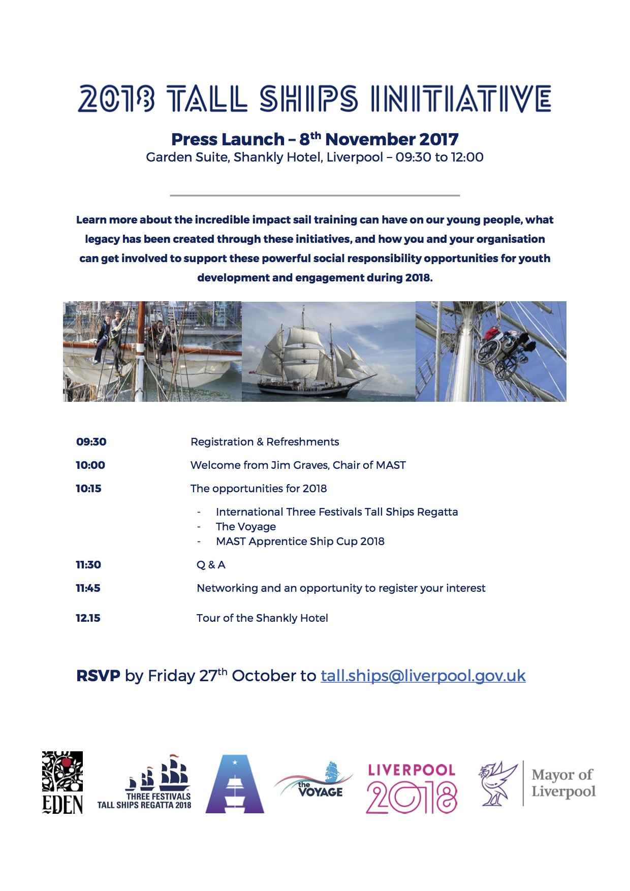 INVITE - 2018 Tall Ships Initiative Press Launch